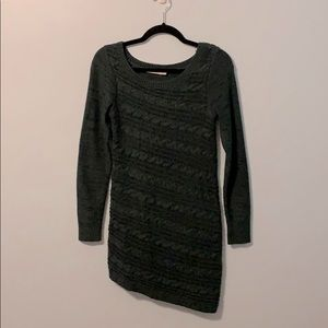 Fitted Forest Green Sweater Dress